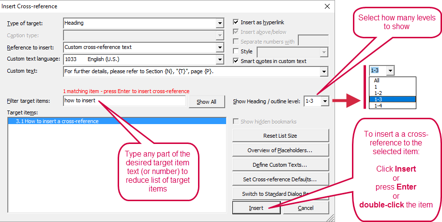 cross references in word easy doctools crossreferencemanager