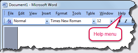 Word version 2003