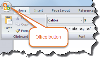Word version – Word 2007 – Office button